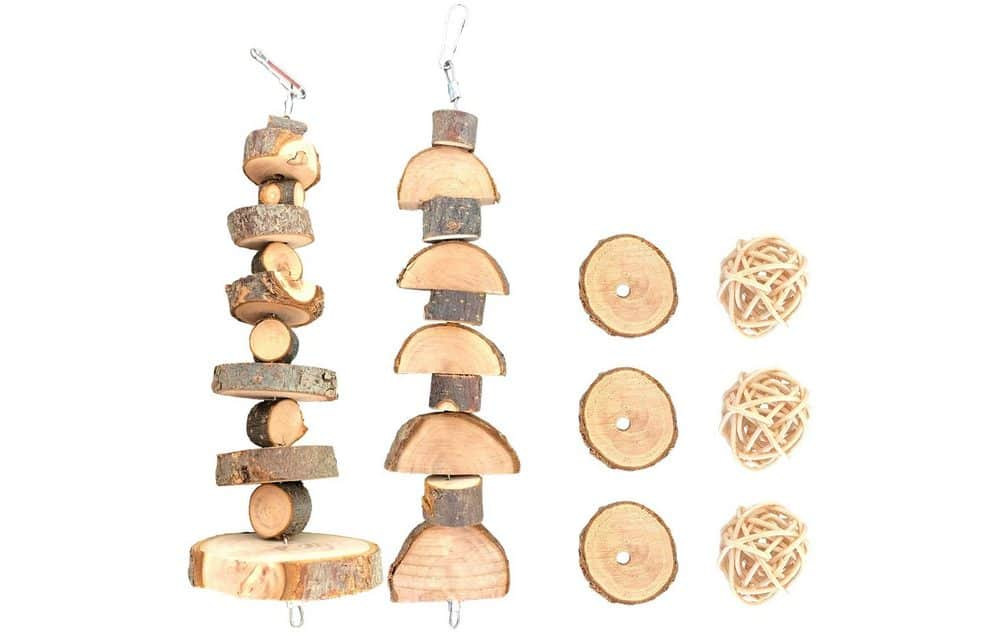 Natural Apple Wood Hanging Toys